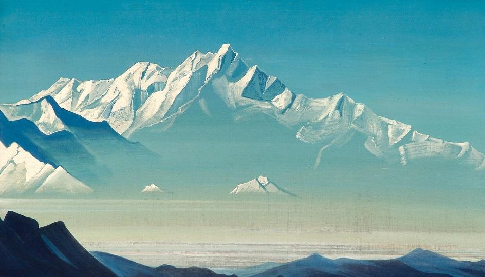 Горы на картинах известных художников. Николай Рерих. «Гора пяти сокровищ»