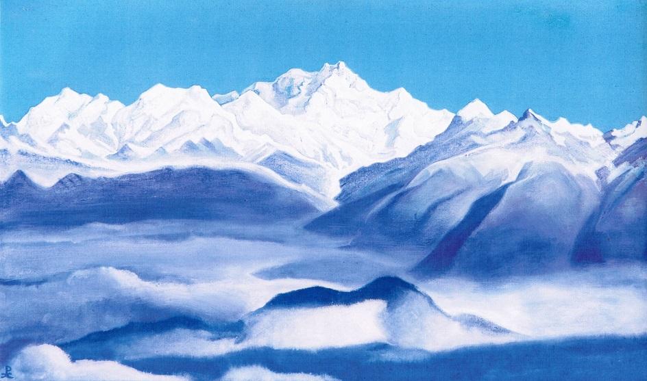 Горный пейзаж. Николай Рерих. «Гималаи (Голубые горы)»