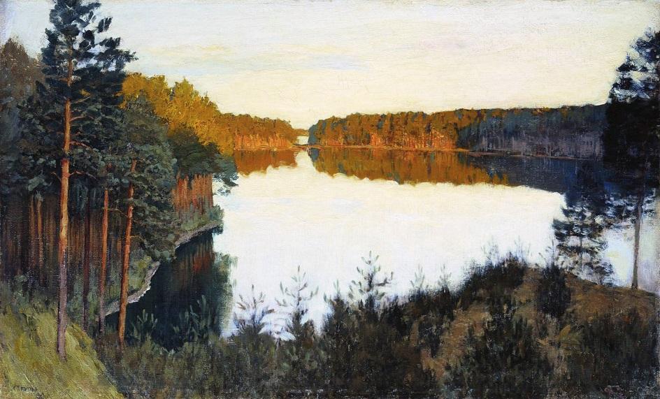Вода на картине. Левитан. «Лесное озеро»