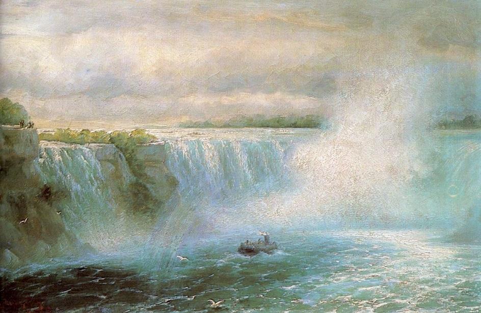 Вода на картинах известных художников. Айвазовский. «Ниагарский водопад»