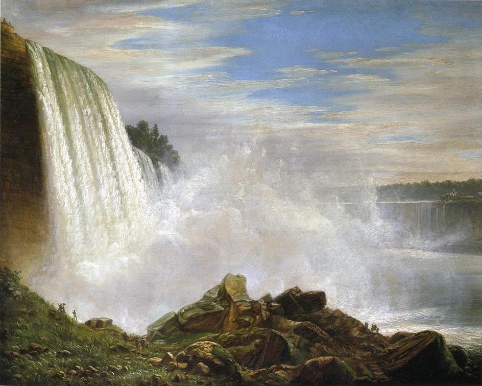 Водный пейзаж. Фердинанд Ричард. «Ниагарский водопад»