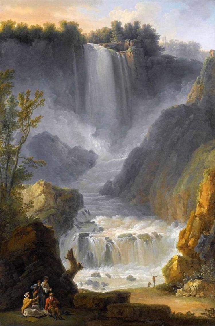 Вода на картинах известных художников. Клод-Луи Шатле. «Водопад около Терни»