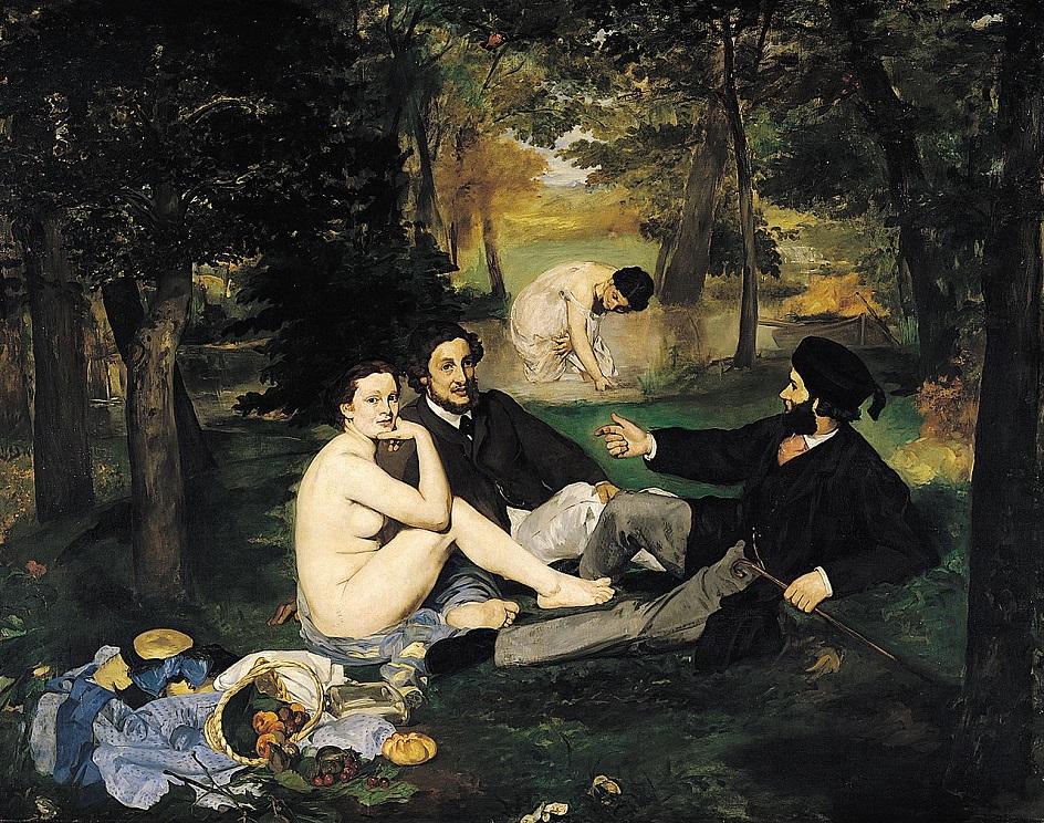 Жанр ню в живописи. Эдуард Мане. «Завтрак на траве»