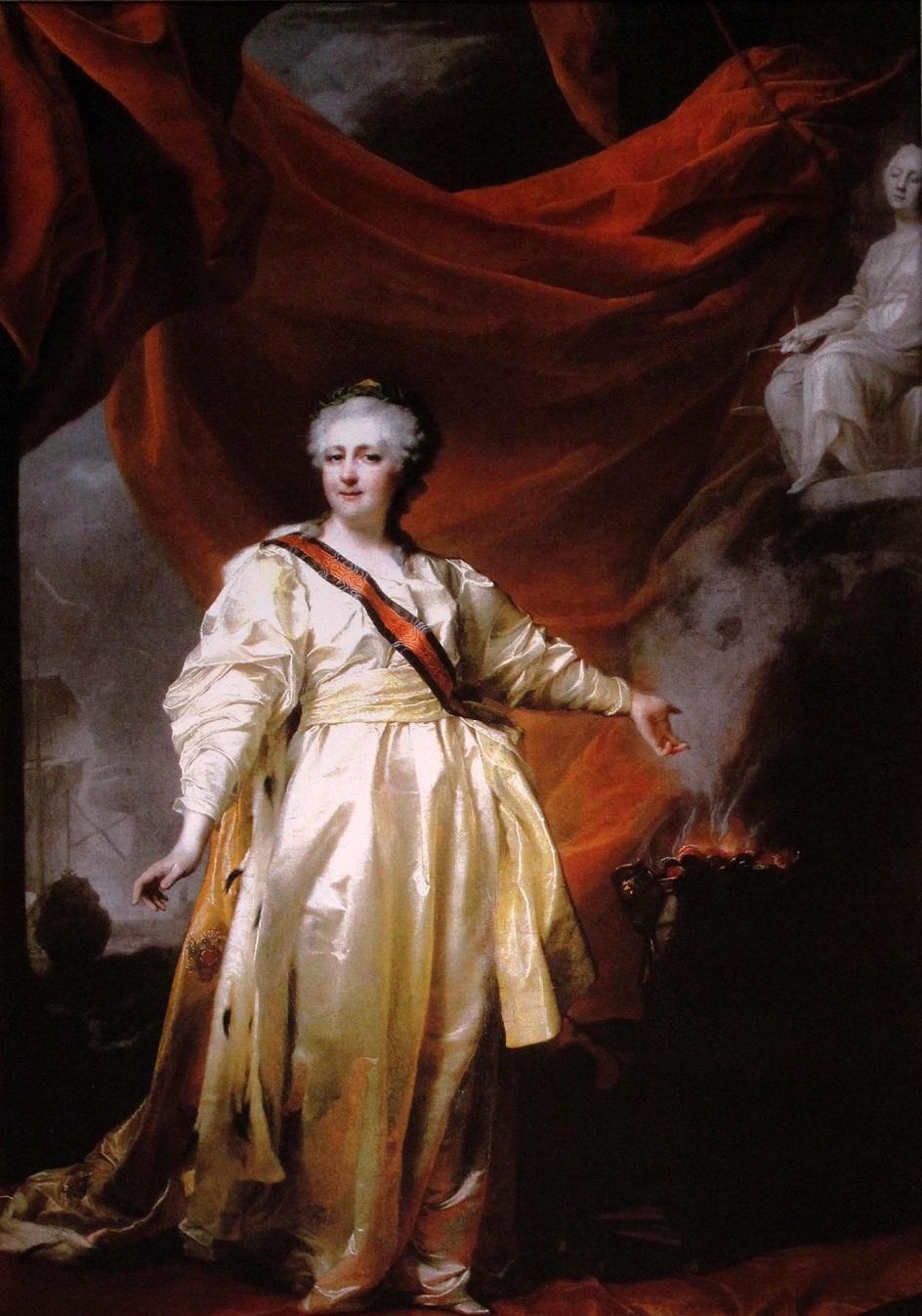 Левицкий Д. Екатерина II в виде Законодательницы в храме богини Правосудия.