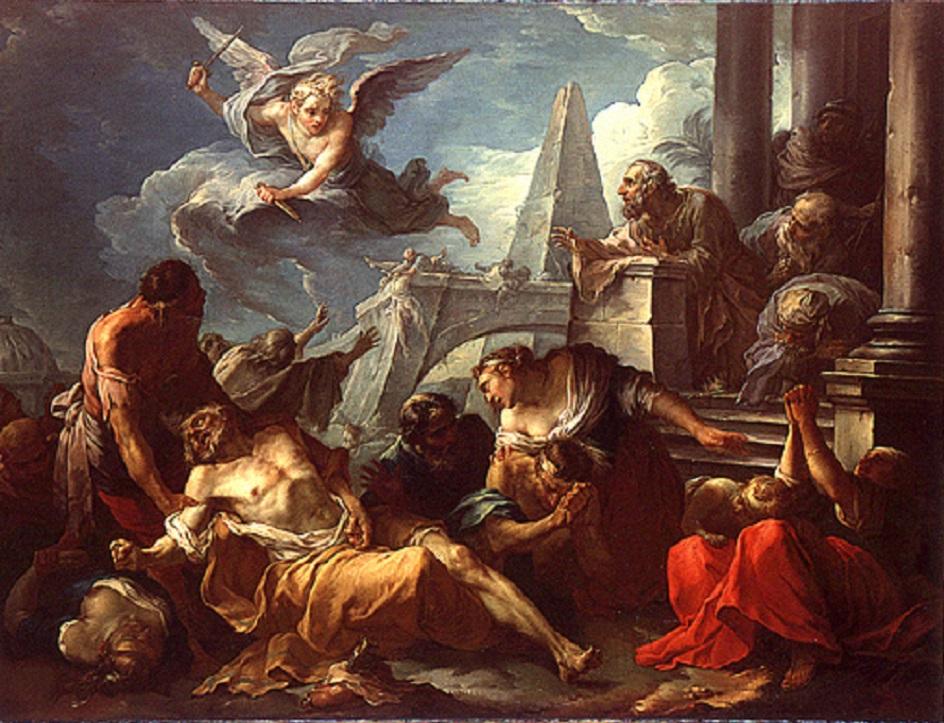 Жозеф-Мари Вьен. Картина «Давид подчиняется воле Господа», 1743