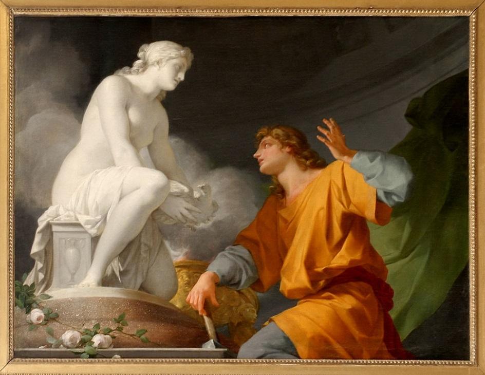 Жан-Батист Реньо. Картина «Происхождение скульптуры», 1786