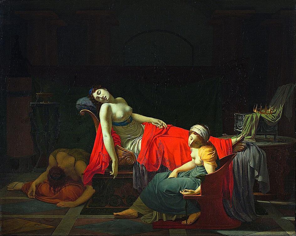 Жан-Батист Реньо. Картина «Смерть Клеопатры», 1799