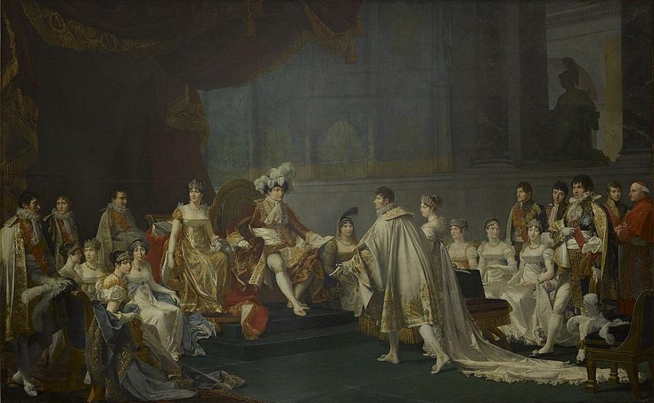 Жан-Батист Реньо. Картина «Бракосочетание Иеронима Бонапарта с Екатериной Вюртембергской», 1810