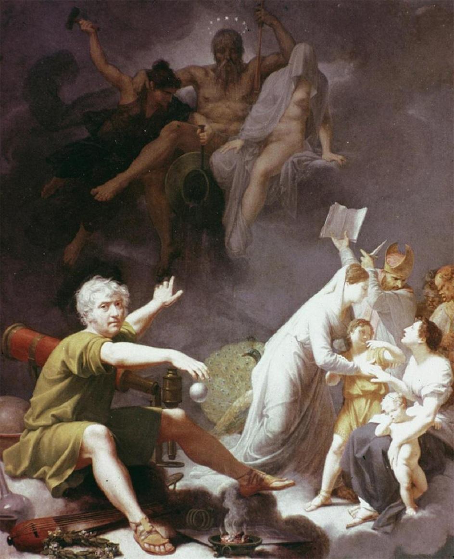 Жан-Батист Реньо. Картина «Человек телесный, человек моральный, человек интеллектуальный», 1810