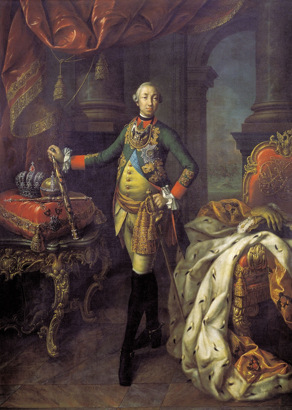 Алексей Антропов. Петр Дрождин. Картина «Портрет Петра III», 1762