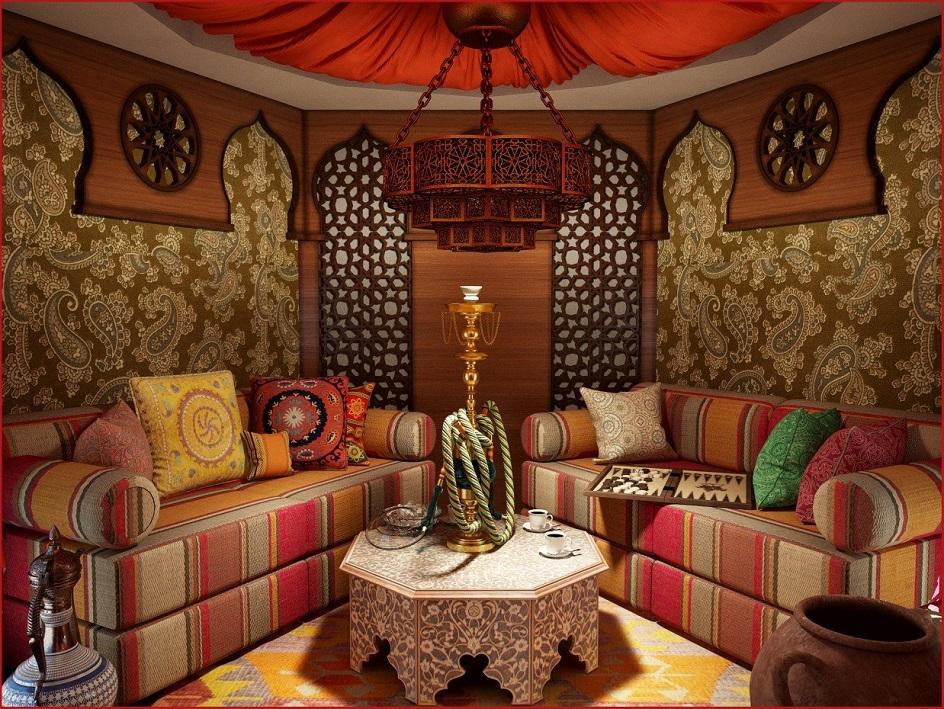Османский стиль в интерьере. Интерьере лаунж-зоны в османском стиле