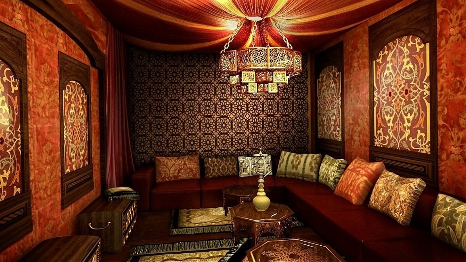 Османский стиль в интерьере. Интерьер гостиной в османском стиле
