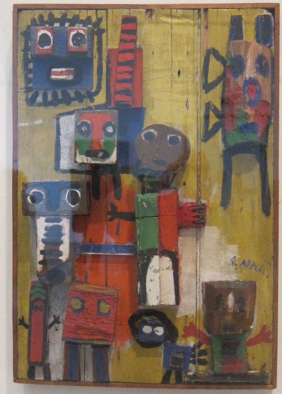 Карел Аппел. Скульптура «Вопрошающие дети», 1949