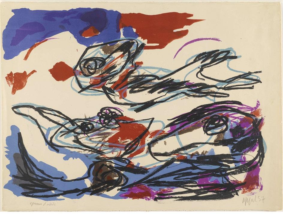 Карел Аппел. Картина «Композиция», 1957
