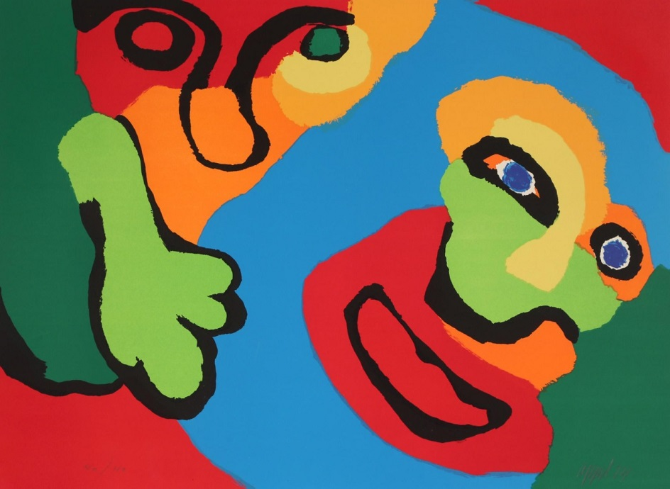 Карел Аппел. Картина Some People Together V, 1974