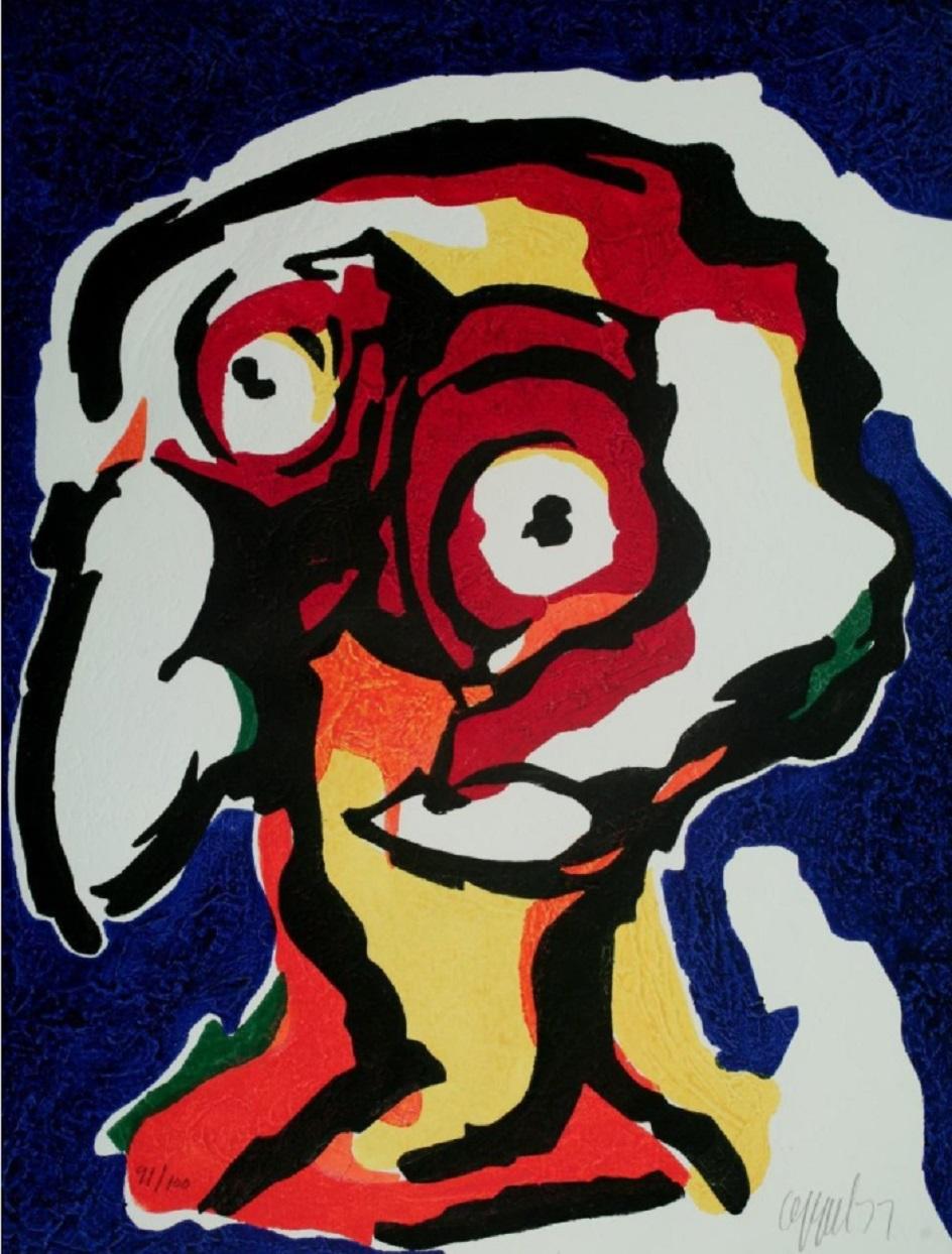 Карел Аппел. Картина Le Philosophe, 1977
