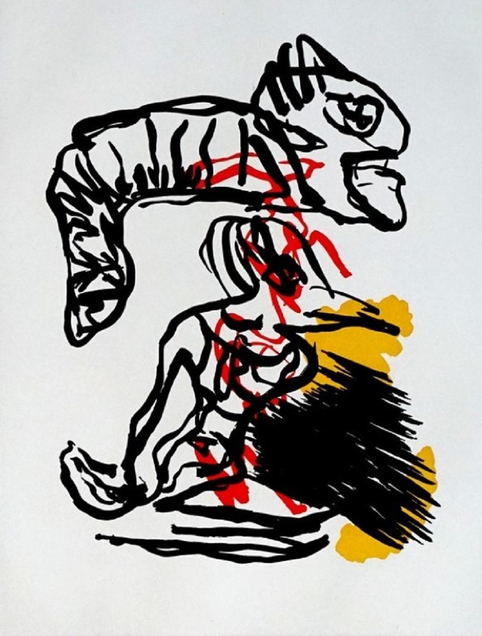Карел Аппел. Картина Salto Sobre La Cabeza, 1988